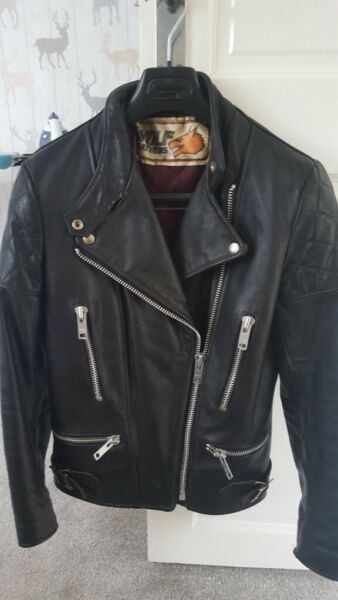 ladies leather biker jacket for sale  Hull, East Yorkshire