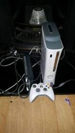 Xbox 360 with controller and charging lead
