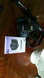 Canon 600D camera body only - with battery, cables etc