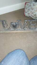 Shabby chic metal and wood love