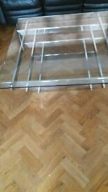 glass / chrome coffee table
