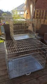 2X DOG CAGES