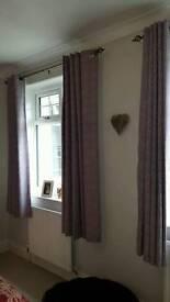 Curtains and matching duvet set