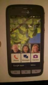 Doro 820 mini Android mobile smart phone works on ee virgin networks