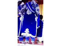 Brand new blue anarkali fully diamond