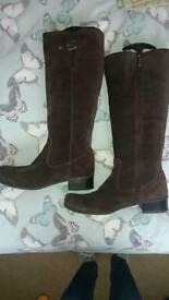 Size 6 m&s brown suede boots