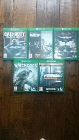 Xbox One Games, Metro Redux, Rainbow Six Siege, Watch Dogs, Batman Arkham Knight