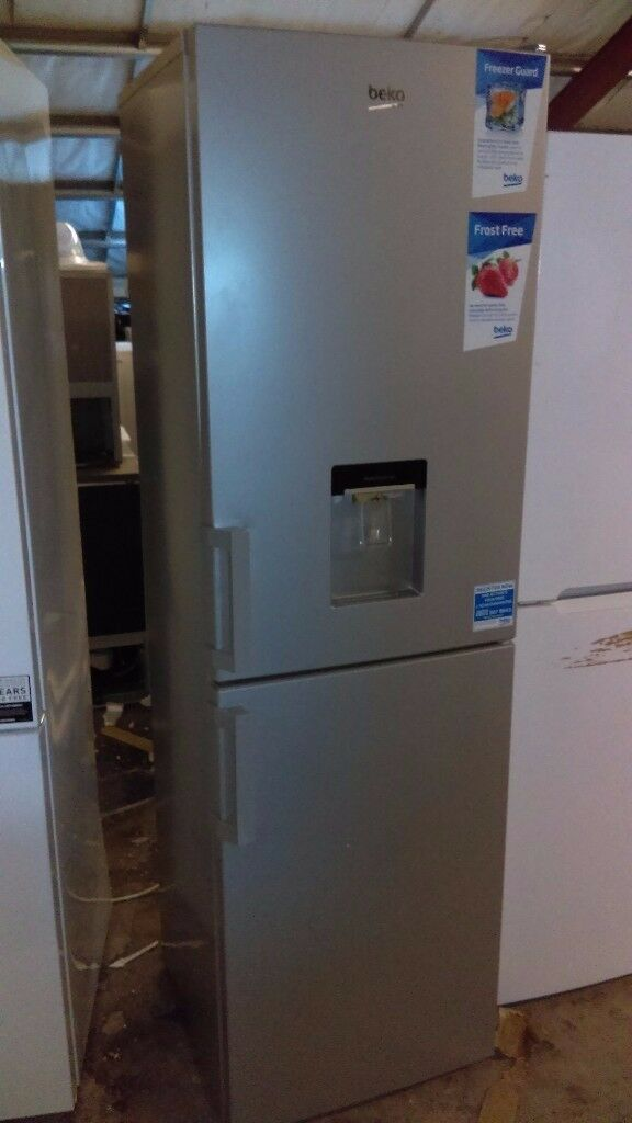 BEKO Frost free 55cm with water dispenser fridge freezer new ex display