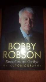 Signed Bobby Robson book