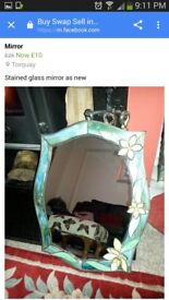 Beautiful stained glass mirror cost alot only asking 12 pounds now no offers.
