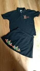 Irish dancing skirt/polo shirt