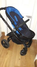 iCandy peach 3 in cobolt with carrycot