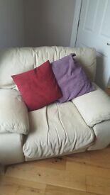 Must go cream leather sofa