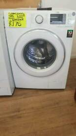 SAMSUNG 9KG LOAD 1200 SPIN WASHING MACHINE IN WHITE