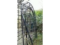 Solid metal garden gate