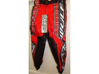 wulfsport race pants motocross motox quad youth junior kids re size 20 approx age 3-4