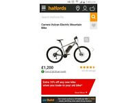 Carrera electric bike. Brand new £875. Halfords sell this for £1200