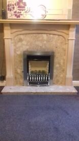Marble fire surround and hearth very good condition