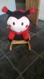 Ladybug sit up rocker