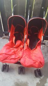 4baby double pushchair