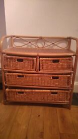Wicker effect chest of draws