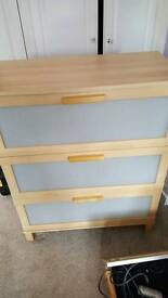 Ikea chest of drawers and bedroom side tables