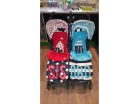 Cosatto bro and sis double pram buggy
