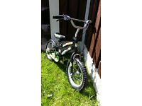 "Boys 14 "" bike Ben ten like new can deliver for a small charge"