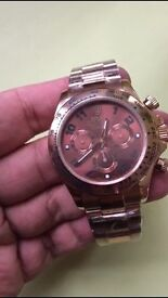 Amazing quality rose and choc rol daytona 7750 watch auto