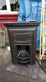 Victorian cast iron fire place excellent condition restored size, 31x42