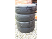 4 x tyres 185/65 R15 88H, good condtn, from 2002 Astra, £40