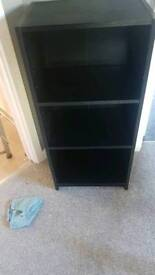 Black display unit and black dvd shelve