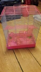 3 story hamster cage (PINK) only £15!! Platforms and tubes included