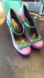 Kurt Geiger - Purple Stilettos - Size 5.5 - £20