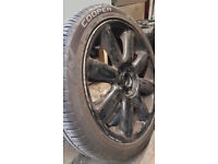 "Mini 17"" wheels and tyres - great condition - NEW tyres"