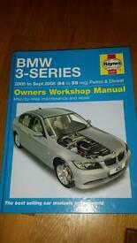 BMW 3 Series Haynes Manual 2005 - 2008 Petrol & Diesel