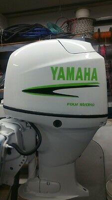 Yamaha 40 -  90  hp Outboard decal   Custom Lime Green & black Kit Marine vinyl
