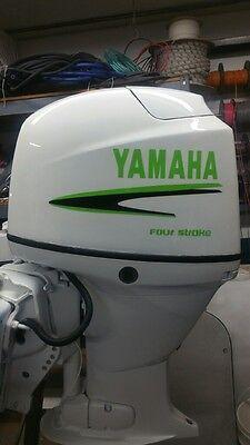 Yamaha 40 -  90  hp Outboard decal   Custom Lime Green & black Kit Marine vinyl
