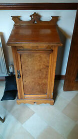 Small antique commode cupboard.
