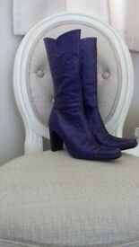 Womans Italian leather boots