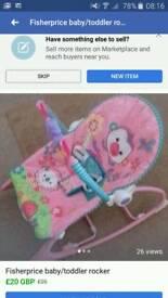 Baby/toddler vibrating rocker chair