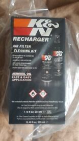 K & N RECHARGER AIR FILTER CLEANING KIT - BRAND NEW IN BOX
