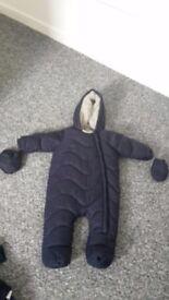 3-6 months boys snow suit