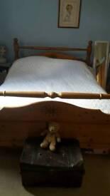 Kingsize wooden bed
