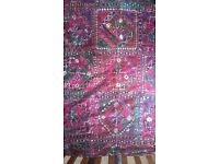 Indian mirrored multi coloured bedspread