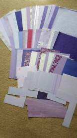 66 x LILAC & PURPLE BACKGROUND PAPERS & CARD