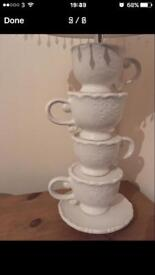 Tea cup table lamp