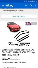 Mk7 golf wind deflectors