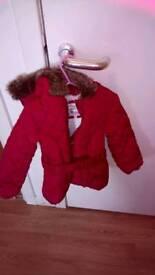 M&S girls jacket size 2,3 Years hardly worn