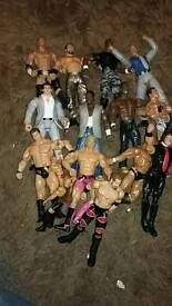 Assorted wrestlemania figures